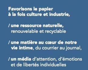 Culture Presse et Culture Papier distribuent un marque-page festif pour valoriser le papier à la fois culture et industrie