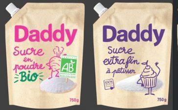 Plusieurs produits phares de DADDY marque de Cristal Union s'emballent en papier kraft brut
