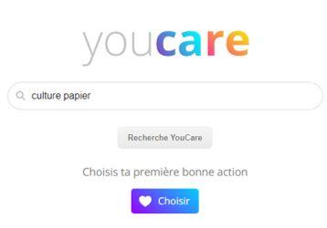 YouCare, moteur de recherche français, transforme votre recherche en acte responsable et caritatif
