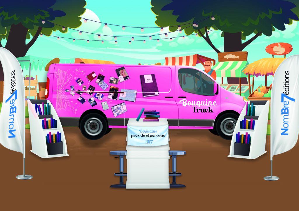 Le Bouquine Truck, le nouveau concept des éditions Nombre 7 pour faire connaître ses auteurs.